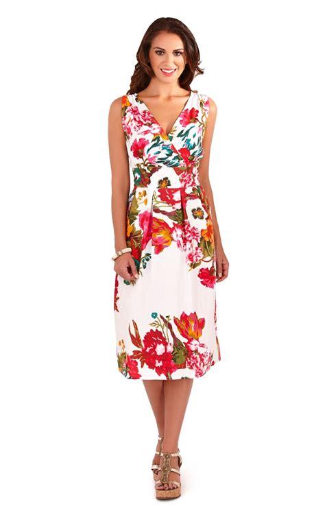 dresses for misses womens dress 100 cotton floral summer dress mid knee