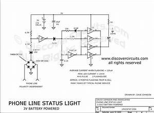 Circuit - 1 Line Telephone Line Status Indicator
