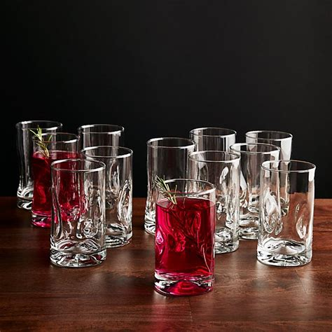 Set Of 12 Impressions Juice Glasses  Crate And Barrel