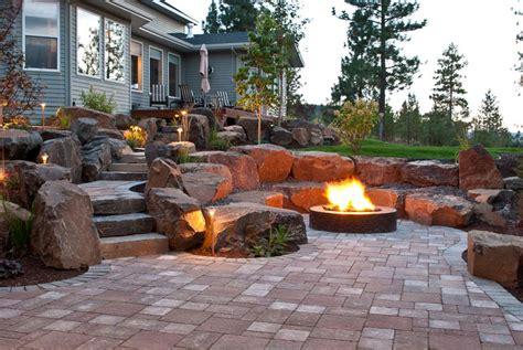 Spokane & Coeur D'alene Backyard Fire Pit Design