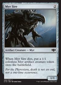 myr deck mtg standard profane memento mtg card