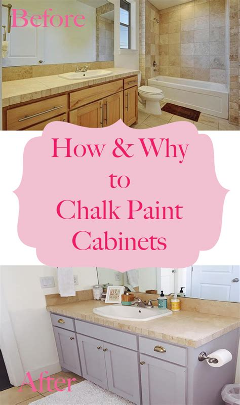 How To Chalk Paint Cabinets by How Why To Chalk Paint Your Bathroom Or Kitchen Cabinets