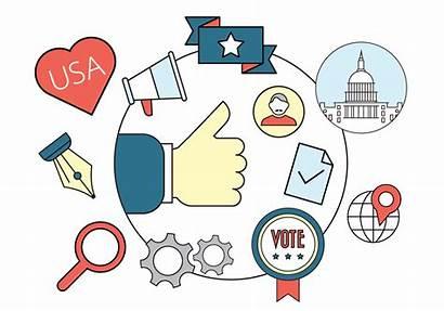 Vector Political Badges Election Politics Clipart Pro
