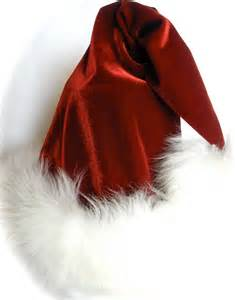 luxury santa hat in red velvet fur and swarovski by hohohats