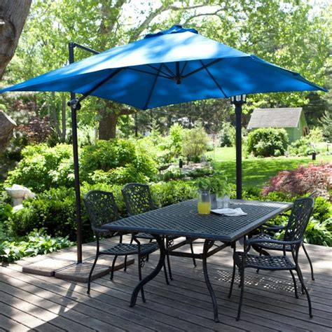 coral coast 8 ft square offset patio umbrella modern