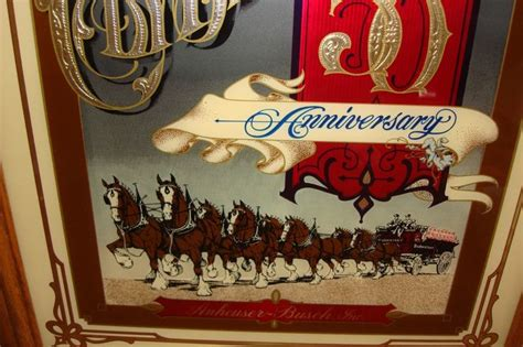 budweiser clydesdales  anniversary limited edition