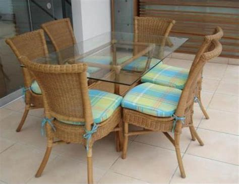 fabricas de muebles comedor rattan con mimbre 6 sillas con cojín varios