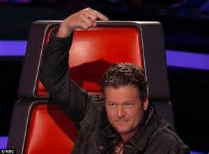 Blake Shelton Pointing Finger