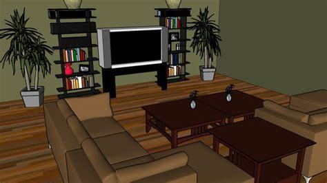 sketchup components  warehouse modern sleek living room