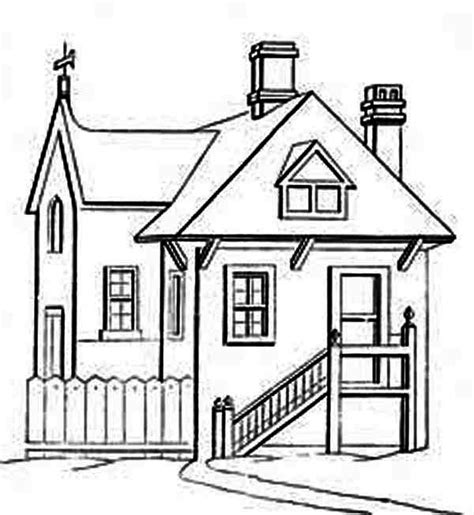 houses   front  stair coloring page netart