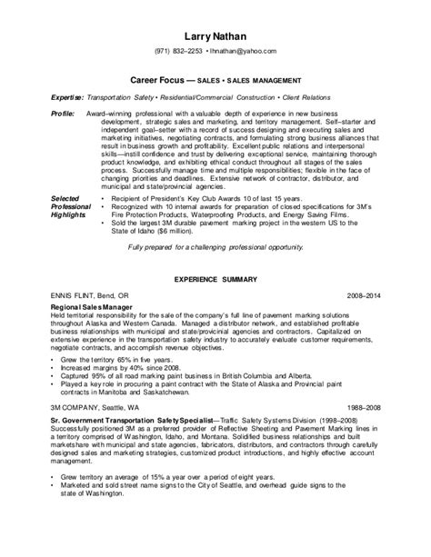 What Does Career Focus On A Resume by Nathan Larry 2015 Resume Word Doc