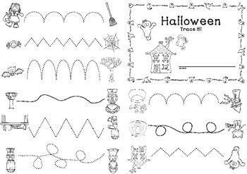 halloween booklet trace   images preschool