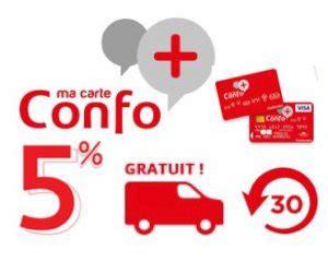 Carte De Fidélité Confo+  Récupérez 5% Du Montant De Vos