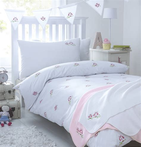 Owl Bedding by Pink Owls Embroidered Bedding By The Cotton Company