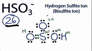 2.55b) HSO3- lewis structure - CHEMISTRY COMMUNITY