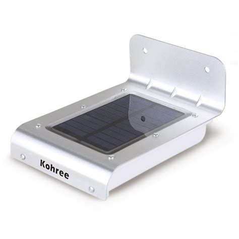 solar powered outdoor security dusk to motion sensor