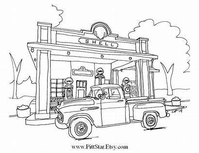 Coloring Truck Pages Pickup Semi Chevy Classic