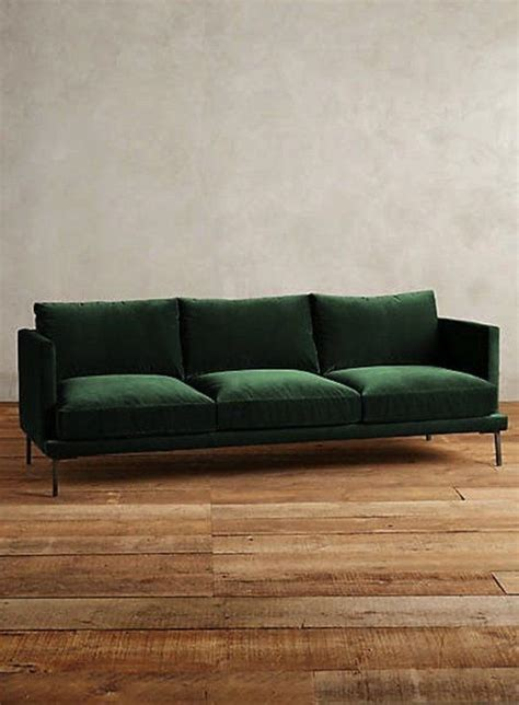 Apartment Therapy Leather Sofa by The Hunt For A Non Velvet Green Sofa Shopping Guides