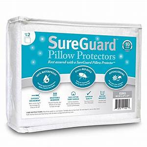 set of 2 toddler travel size sureguard pillow protectors With difference between standard and premium my pillow