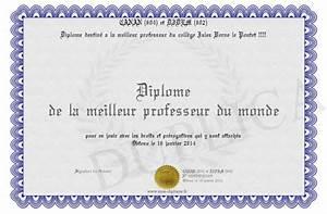 Meilleur Oreiller Du Monde : diplome de la meilleur professeur du monde ~ Melissatoandfro.com Idées de Décoration