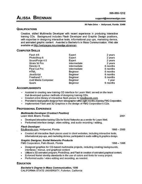 Technical Skills On Resume by Resume Exles Technical Skills Exles Resume