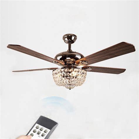 ceiling fan with chandelier light american country style led lights fan crystal chandelier