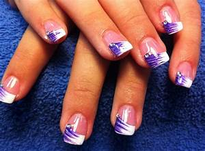 Purple French Tip Nail Designs   Photo Gallery of the ...