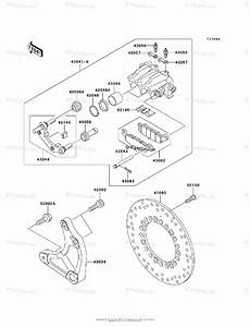 Kawasaki Motorcycle 2003 Oem Parts Diagram For Rear Brake
