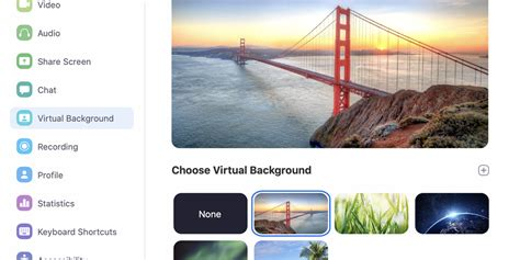 add  virtual background   zoom video calls
