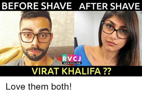 After Shave Meme - before shave after shave rvcj www rvcjcom virat khalifa love them both love meme on sizzle