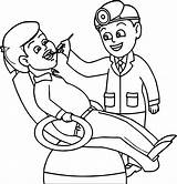 Boy Dentist Coloring Pages Printable sketch template