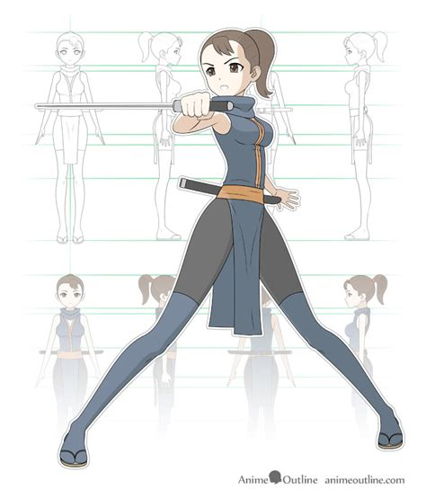 important steps  draw  manga  anime character