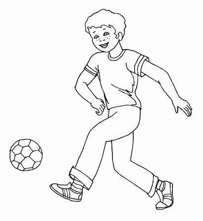 Pages Colouring Coloring Boy Sports Boys Playing