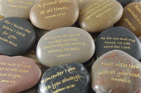 engraved river rocks scripture verses ebay