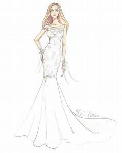 Designer Dress Sketches for Jennifer Aniston's Wedding Day ...
