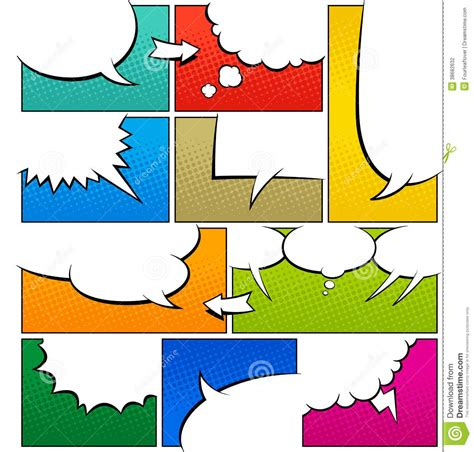 color book template word color comic book page template stock illustration