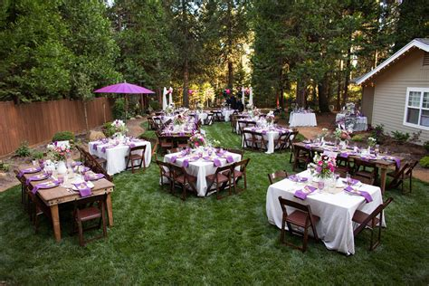 backyard wedding idea outstanding backyard wedding arrangement ideas