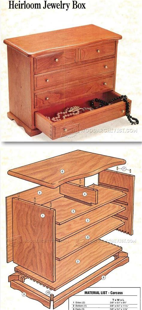 jewelry box plans ideas  pinterest wooden box plans jewelry box  diy wooden
