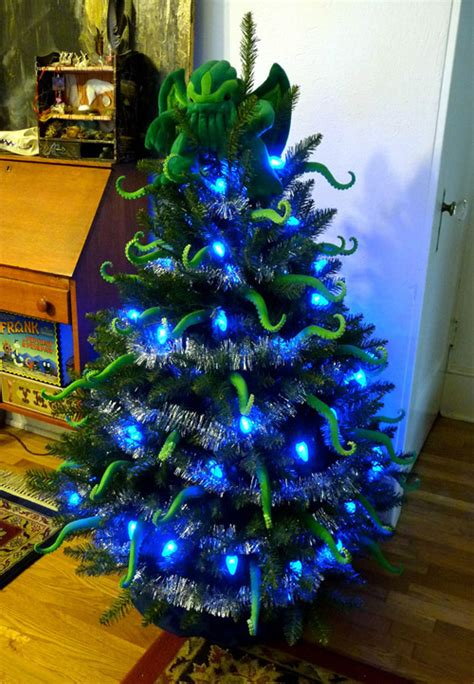 a bunch of unconventional interesting christmas trees