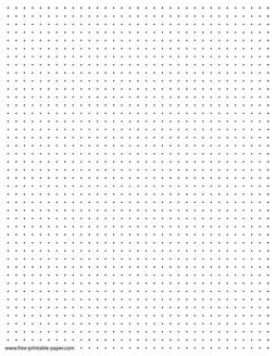 printable dot paper quarter  dotted grid paper