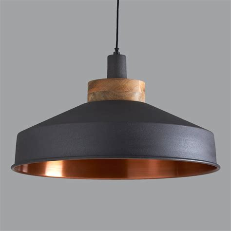 white farmhouse kitchen island cosmos graphite and copper pendant light by horsfall