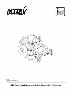 Mtd Zero Turn Serie Rzt Tools Download Manual For Free Now