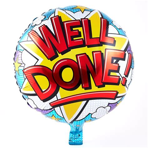 Well Done Images Well Done Foil Helium Balloon Card Factory