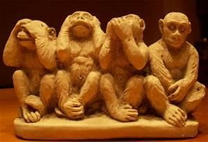 Statue Singe De La Sagesse : 4 singes de la sagesse maires et pairs ~ Teatrodelosmanantiales.com Idées de Décoration