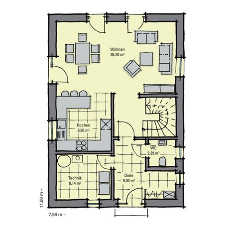 Kleines Einfamilienhaus Grundriss by Einfamilienhaus G 252 Nstig Bauen Akazienallee Idealer