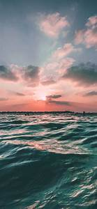 nf43-sunset-sea-sky-ocean-summer-green-water-nature-wallpaper