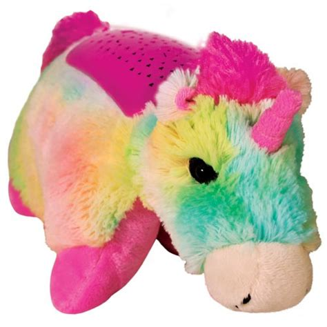 pillow pets lights lites pillow pets rainbow unicorn rotating lites