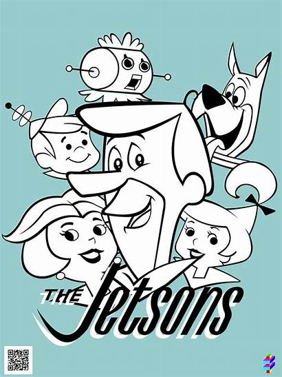 Jetsons Os Coloring Cartoon Sketches Toll