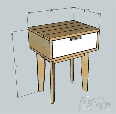 reclaimed wood nightstand plans woodworking projects plans