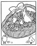 Easter Basket Coloring Pages Detailed Colouring Bunny Spring Bing Print sketch template